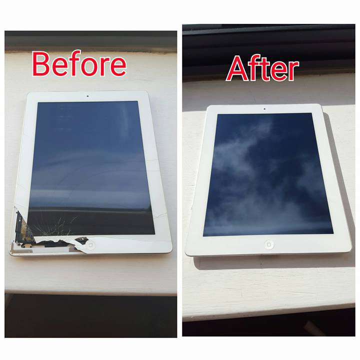 Before and After phone repairs